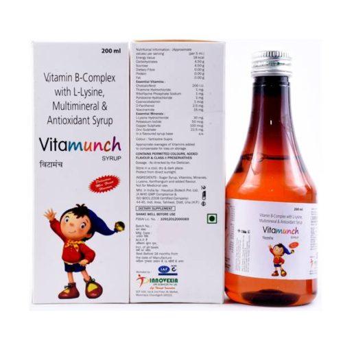 Vit. A 1600 IU + Vit. E 5 lU + Cholecalciferol 200 lU + Vit. Bi 1mg + Vit. B2 1mg + Vit. B6 1mg + Niacinamide 15mg + Cyanocobalamin mcg + D-Panthenol 2.5mg + Zinc 3mg + Iodine 50mcg + Manganese 20mg + Molybdenum 8mcg+ Selenium 10mcg + Lysine Hydrochloride 30mg